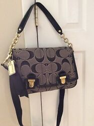 Coach Poppy Lurex Bag Signature Flap Crossbody Coach #18352 $55.00