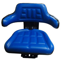Blue Waffle Style Tractor Suspension Seat Fits Ford/fits New Holland 600 601 800