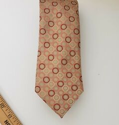 SEAN JOHN Classic Men's Tri-colored Circles Necktie Designer Classic Cream color $20.00