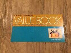 1969 Ford,mustang,cobra,galaxie,value Book.  Rare. Look