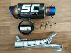 Low Mount Exhaust 2titanium Sc Carbon Full System Honda Grom Msx125/sf 2013-20