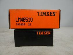 Timken Lm48510 Tapered Roller Bearing, Single Cup New Old Stock Nip