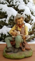 Rare Vintage 1981 Universal Statuary Corp Chicago Cowboy Guitar Boot 115 Signed