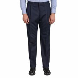 Dand039avenza Roma Navy Blue Striped Wool Dp Dress Pants Eu 52 New Us 36 Portly Fit