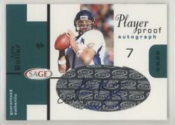 2003 Sage Player Proof /20 Kyle Boller Pa7 Rookie Auto