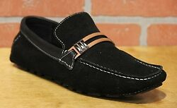 Sarreti Menand039s Moccasins Black Suede Slip On Shoes Made In Brazil 4429917