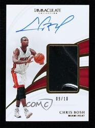 2018-19 Panini Immaculate Sneaker Swatch Signatures Gold /10 Chris Bosh Auto