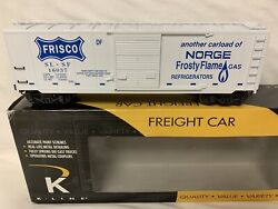 ✅k-line By Lionel Arkansas Frisco Norge Frosty Flame Gas Refrigerator Box Car