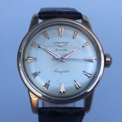Longines Conquest Gold 18kt Year 1960 Ca Vintage With Box