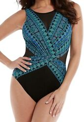Miraclesuit Womenand039s 171411 Gypsy Palma One-piece Swimsuit Size 12