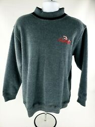 3 Dale Earnhardt Nascar Pullover Fleece Sweater L Chase Authentics Embroidered