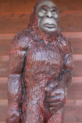 Big Foot Chainsaw Carving Yeti Sasquatch Monster Wood Carvings One Of A Kind