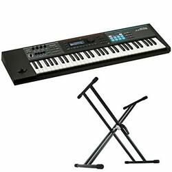 Roland Juno Ds61 Synthesizer Dicon Audio Ks 020 X-type Keyboard Stand 2-piece