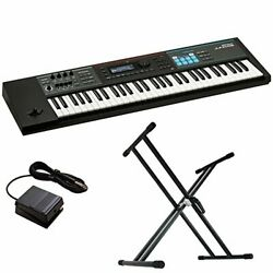 Roland Juno Ds61 Synthesizer X-type Keyboard Stand Dp 2 Foot Switch 3-piece Set