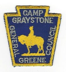 Boy Scout Camp Graystone 50's Pp Thick Letters General Greene Cncl  Nc