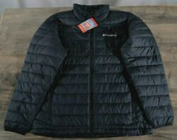 Columbia Oyanta Trail Thermal Coil Insulated Jacket Men's LARGE Black Coat NWT