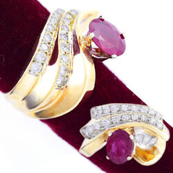 Luxurious Ruby And Diamond Statement Ring | 1.5 Ctw Ruby .75 Ctw Of Diamonds