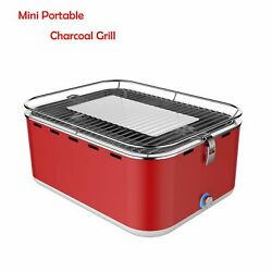 Outdoor Mini Portable Square Grills Smokeless Stainless Steel Charcoals Grilling