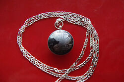 1940 Italy War Era Flying Eagle Pendant On A 26 .925 Sterling Silver Chain