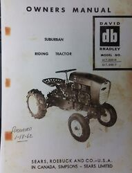 Sears David Bradley Tractor And Engine Owner And Parts 2 Manuals 917.60616 And 60617