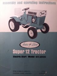 Sears Ss-12 Suburban Super 12 Garden Tractor Owner And Parts 2 Manuals 917.25120