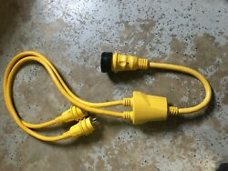 Marincoandnbspreverse Y-adapter 2-30a 125v Male To 50a 125/250v Female