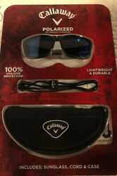 Callaway Polarized Sunglasses With Extra Strap And Portable Case
