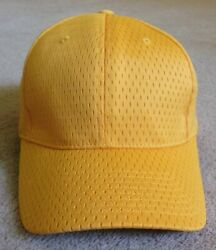 Plain Old Gold Jersey Mesh-Ball CapHat-Port Authority-Adult OS-Adjustable-EEUC