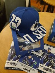Sedin Twins Custom Hats 1 Of 233 And 1 Of 222 Made. Autographed Embroidered