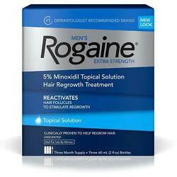Rogaine Menand039s Extra Strength Solution 3-mo Hair Regrowth Treatment Follicle Chop