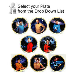 Star Trek Tos Crew Plate Collection-series 2-gold Border-your Choice Or Set