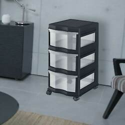 Life Story Classic 3 Shelf Storage Container Organizer Plastic Drawers 12 Pack