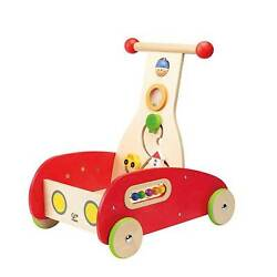 Hape Toys E0370 Toddler Baby Push And Pull Toy Wonder Walker Cart For 12+ Months