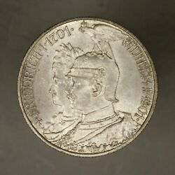 German State Prussia 1901 2 Mark Frosty Choice Unc 200 Years Kingdom
