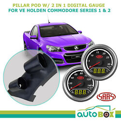 Dual Pillar Pod W/ 2in1 Digital Trax Gauge Ve Holden Commodore Series 1 And 2