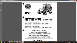 Steyr 8065 8075 Tractor Parts Catalog In Pdf Format