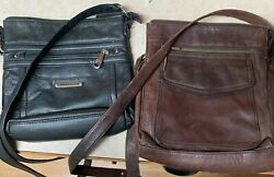 Lot Of 2 Purses: Fossil And White Mountain leather crossbody purses $29.00