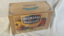 Vintage Hellmann's Best Foods Real Mayonnaise Wood Recipe Box Litho Advertising
