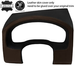 Black Brown Instrument Cluster Hood Real Leather Cover For Ford F150 04-08 Jf1