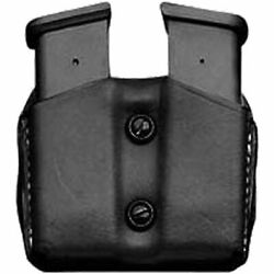 Leather Double Magazine Pouch/case/holder For Glock 17/19/22/23/31 9mm/40 Mag