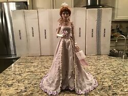 Franklin Mint Collector Porcelain Doll Pearl The Gibson Debutante Coa And Numbered