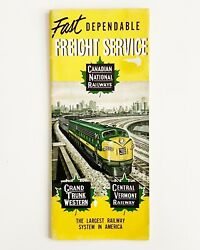 Canadian National Railways Freight Map And Brochure 1952