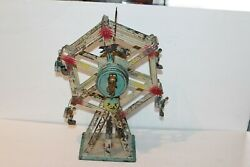 Early 1900's Doll And Cei Tin Wind Up Ferris Wheel Made In Germany