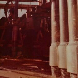 Real Photo Vtg Oil And Gas Company Well Driller Drill Mud Site Field Men Work Bits