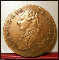 1785 France Rr Limit Edition Large Medal Coin Copper Reproduction King Louis Xvi