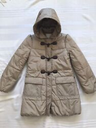 Girls Beige Duffle Padded Coat For 12 Y Old Girl