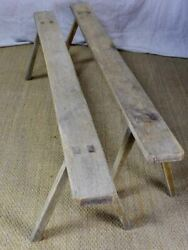 Pair Of Early 19th Century Farm Benches