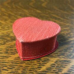 Vintage Small 1 3/4 Valentine's Day Heart Candy Box Made In Japan Padded Satin