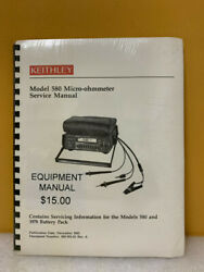 Keithley 580-902-01 Model 580 Micro-ohmmeter Service Manual