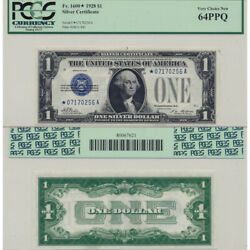1928 1 Silver Certificate Fr1600 Pcgs Currency Graded Very Choice New 64 Ppq
